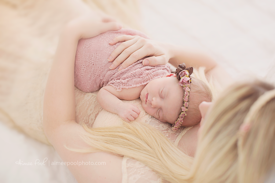 Newborn Baby Girl & Mom